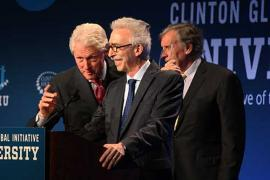 Former President Bill Clinton with Chancellor Nicholas Dirks