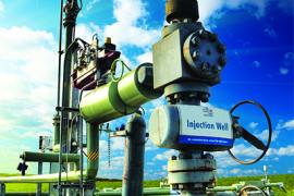 carbon dioxide injection well in Australia.
