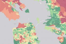 A neighborhood-by-neighborhood inventory of carbon emissions will help households and cities compare and ideally lower their carbon footprints. Click on image to open map.