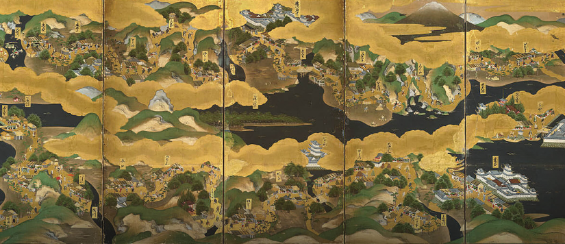 Image of Japanese map used as main image for International and Area Studies research highlight.